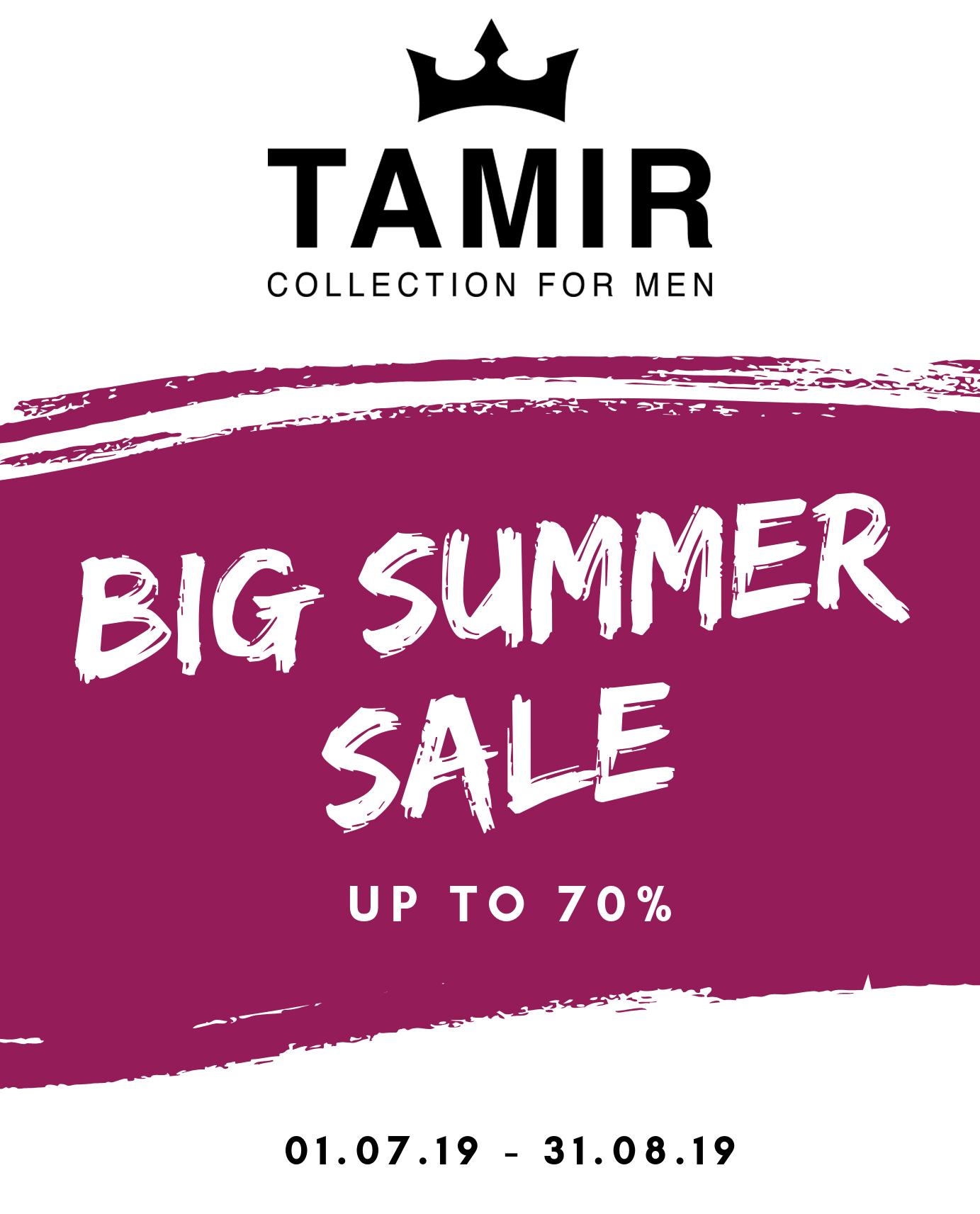 BIG SUMMER SALE у всій мережі магазинів ТМ «TAMIR»!