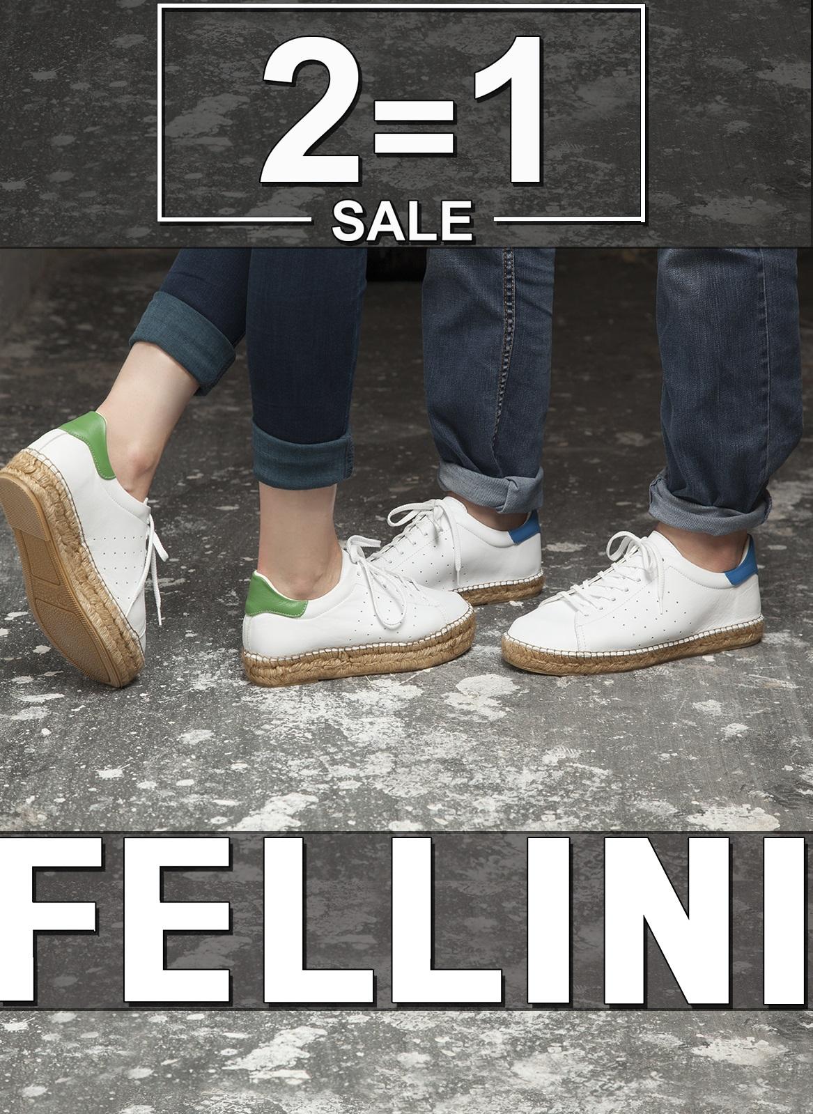 Два товара по цене одного в магазине итальянской обуви и сумок Fellini!