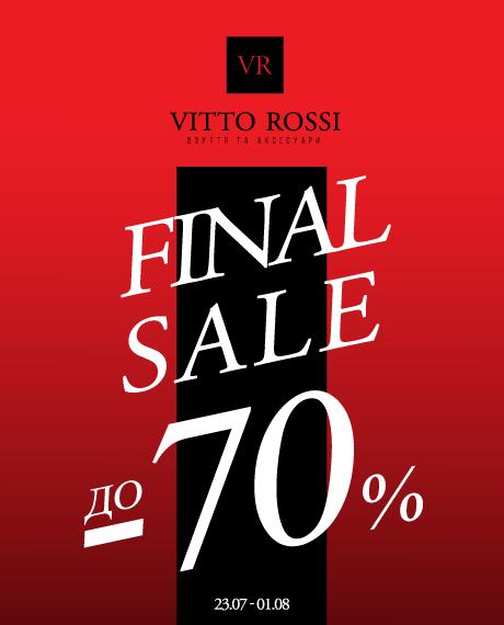 FINAL SALE до -70% в VITTO ROSSI!