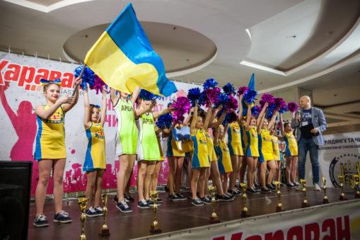 Фотоотчет «Чемпионат по Черлидингу» в ТРЦ «Караван» Днепр