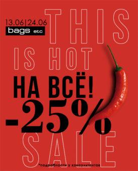 HOT SALE в «BAGSetc»: — 25% на ВСЁ!