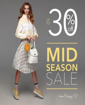 Mid Season Sale до -30% на обувь SS'19