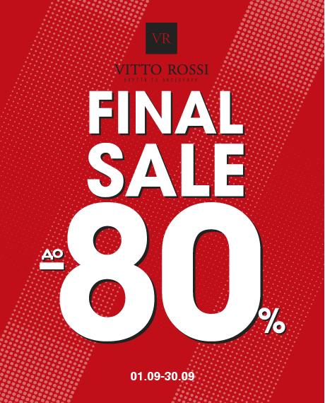 TOTAL SALE до — 80% в сети магазинов VITTO ROSSI